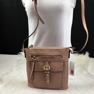 Handbags - Blush in color crossbody bag
